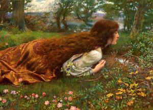 The Princess out of School (1901) Edward Robert Hughes wall art print