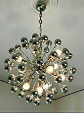 VINTAGE SPUTNIK CHROME 12  LIGHTS . 1960