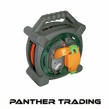 Masterplug 20M Outdoor Extension Cable Reel Lead IP-Rated With 2 Cutout Sockets