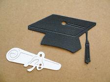 Graduation Hat & Diploma Paper Die Cuts  x 8 Sets Scrapbooking Embellishment
