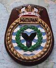 HMS Matapan Bronze Bulkhead Ship Crest Shield Plaque