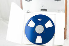 "New!  AKAI blue 10.5"" inch Metal Reel for 1/4"" tape- Mint Condition"