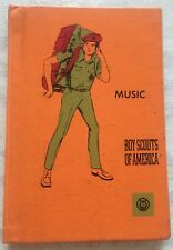 Hardback Boy Scout Music Merit Badge Book C:1968 P:1971 No. 3336