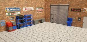 Garage Scene Accessories C for 1:43 Scale Models cars Garage Diorama 3d Printed.
