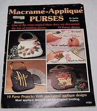 Vintage Macrame Applique Purses Sewing Magazine 1979 10 Projects USA