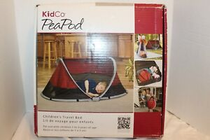 Portable PeaPod Infant Toddler Travel Tent Bed Pre Owned Excellent Condition Red