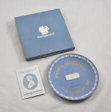 "Wedgwood Porzellan Teller / Plate (HOW Group) Fortieth Anniversary 1987 (6,5"")"