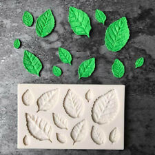 Silicone Rose Leaves Embellisment Fondant Mould Chocolate Cake Decoration Tool