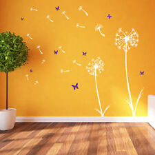 Dandelion Floral Decal Wall Stickers Decor Flowers Art Removable Room A360 Pink Large Set From Right to Left