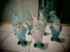 Vintage hand painted gnomes
