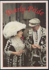 Pearly Pride Postcard - London Cockneys Wearing Pearl Button Costumes RT2410