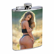Colorado Pin Up Girls D3 Flask 8oz Stainless Steel Hip Drinking Whiskey