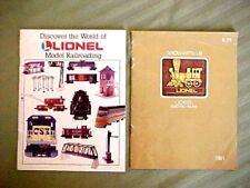 1981 Fundimensions & 1993 Lionel Train Sales Catalog Booklets O Gauge / 027