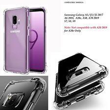 ShockProof Clear Silicone Bumper Cover Case Samsung A20e A50 A70 A6 A5 j3 j5 S9