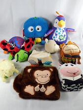 Soft Cloth Baby Books Toddler Lot of  8 Books Plush Animals