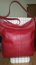 COACH 9177 Cherry Red Legacy Slim Duffle Sac Laptop Diaper Travel Tote Work NWT!