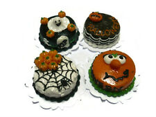 4 Halloween Cakes Dollhouse Miniatures Food Deco Holiday Season -4