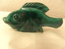 poisson sculpté Malachite pierre dure