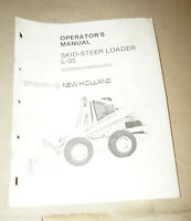 Sperry New Holland Skid-Steer Loader L-35 Operator's Manual P/N 42003518