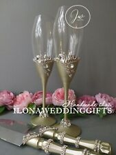 Swarovski Crystal Personalized Wedding Toast Glass Bling Sparkle Elegant Unique