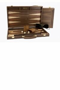 """Wooden Backgammon, walnut 18"""" OUT OF STOCK"""