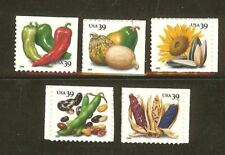 US Scott # 4013 - 4017 Crops 2006 Set of Singles from Vending Booklet MNH