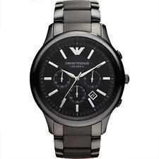 Emporio Armani AR1451 Men's Ceramic and Rubber Black Chronograph Dial Watch