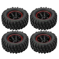 4Pcs 6 Holes Rubber Wheel Tyres for 1/10 Scale RC Crawler Off-road Truck Car