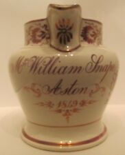 Sunderland rose Lustre Ware Cruche Poterie Antique C 1849 FARMER William Rogue