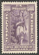 U.S. #PR125 CHOICE Mint XF/SUP NH - 1896 $100 Purple, Newspaper