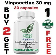 Vinpocetine 30 mg  Maximum Strength Memory, Brain Health Made USA Free shipping