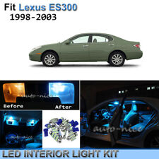 12pcs Bright Ice Blue Interior LED Light Package Kit For 1998-2003 Lexus ES300