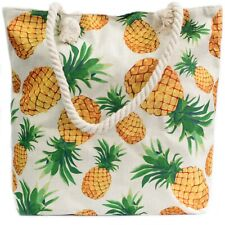 Rope Handle Bag - Pineapples - Brand New & Sealed