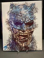 Batman Darkness Art Print Exclusive Bam Box Zombie Variant 83/500 Sam Zalch