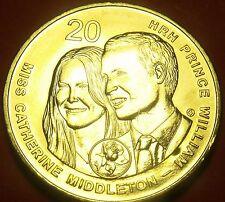 Australia 2011 20 Cents Gem Unc~Catherine Middleton And Prince William Wedding~