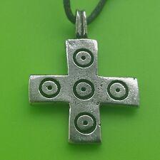 Saxon Viking Christian Cross Pewter Pendant Necklace - Thor - Celtic - Norse