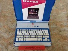 Snugg Apple iPad AIR Wireless Keyboard Folio Case Blue 360* Rotate Screen Smart