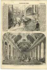 1855 Duke And Duchess Of Brabant Visit Versailles Hall Of Mirrors Staircase
