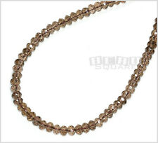 """15.8"""" Smoky Quartz Faceted Rondelle Beads 6mm #21044"""