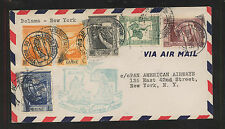 Portugal  Guine  nice airmail flight cover to  US   1941           SSS0323
