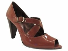 Anne Klein Women's Jules Open Toe Pump Medium Brown Size 8.5 M