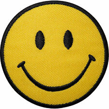Smiley Face Embroidered Iron On Transfer Sew On Patch Clothes Bag T Shirt Badge