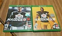 Lot of 2 NFL Madden XBOX 1 Video Game Bundle Microsoft Xbox One Football