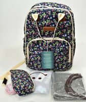 Malirona Blooming Girls Backpack Baby Diaper Bag w/ Accessories, Flowers Berries