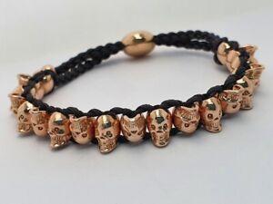 Genuine Links of London SKULLS friendship bracelet rose gold vermeil