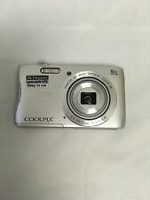 Nikon COOLPIX S3700 20.1MP Digital Camera - Silver-lens cover missing