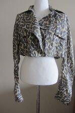 Sass & Bide animal print cropped jacket, size 38, AUS 8-10, new