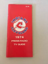 1974 Cleveland Indians Baseball Yearbook Program Media Guide