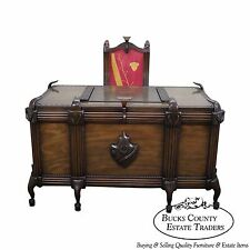 Unusual Art Deco Custom Executive Desk w/ Side Chair