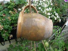 More details for lovely little french vintage ochre glazed earthenware pot